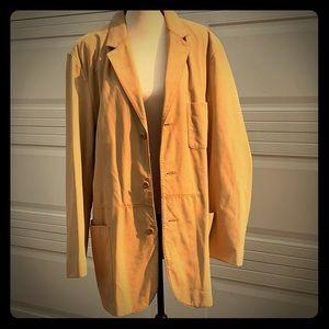 Tasso Elba 100% Leather Jacket Overcoat Peacoat